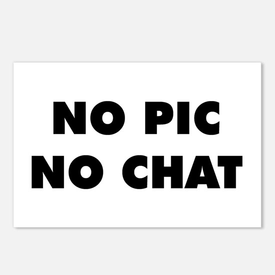 No Pic No Chat Postcards (Package of 8)