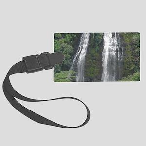 Opaekaa Falls on Kauai Large Luggage Tag