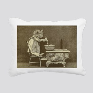 Cooking Kitty Rectangular Canvas Pillow
