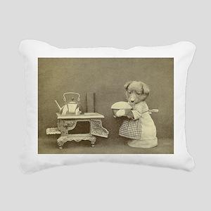 Baking Puppy Rectangular Canvas Pillow