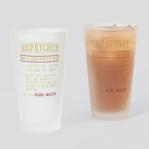 Dispatcher Funny Dictionary Term Drinking Glass