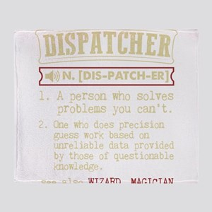 Dispatcher Funny Dictionary Term Throw Blanket