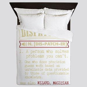 Dispatcher Funny Dictionary Term Queen Duvet