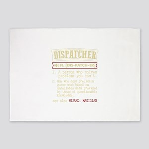Dispatcher Funny Dictionary Term 5'x7'Area Rug
