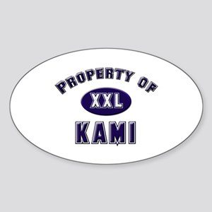 Property of kami Oval Sticker