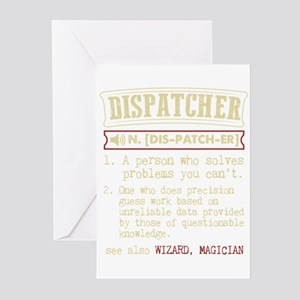 Dispatcher Funny Dictionary Term Greeting Cards