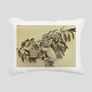 berries kitty Rectangular Canvas Pillow