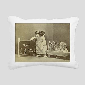 school kitties Rectangular Canvas Pillow
