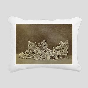 yarn kitties Rectangular Canvas Pillow