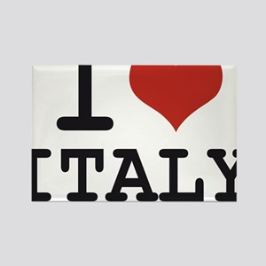 I LOVE ITALY Rectangle Magnet