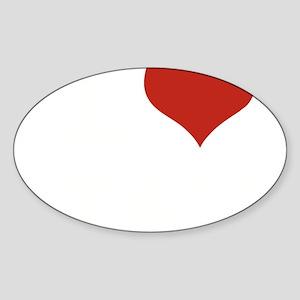 I LOVE ITALY Sticker (Oval)