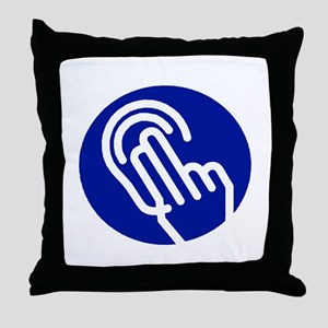 Deaf/HOH Throw Pillow