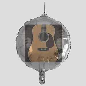 acoustic-guitar-framed panel print c Mylar Balloon