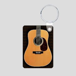 acoustic-guitar-framed pan Aluminum Photo Keychain