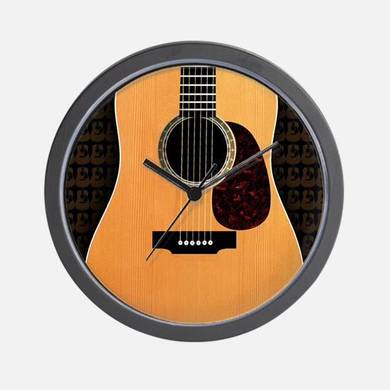 acoustic-guitar-framed panel print copy Wall Clock