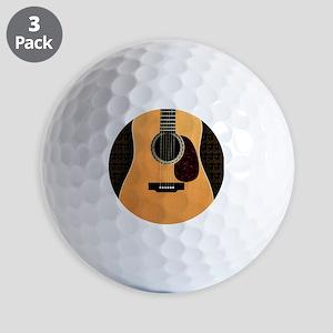 acoustic-guitar-framed panel print copy Golf Balls