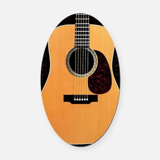 acoustic-guitar-framed panel print Oval Car Magnet