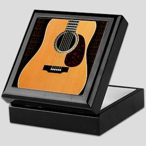 acoustic-guitar-framed panel print co Keepsake Box