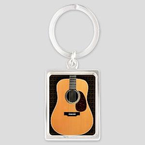 acoustic-guitar-framed panel pri Portrait Keychain