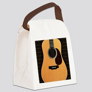 acoustic-guitar-framed panel prin Canvas Lunch Bag