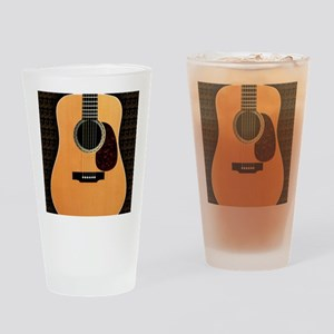 acoustic-guitar-framed panel print  Drinking Glass