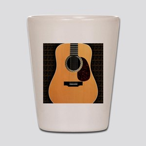 acoustic-guitar-framed panel print copy Shot Glass