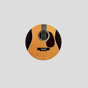 acoustic-guitar-framed panel print cop Mini Button