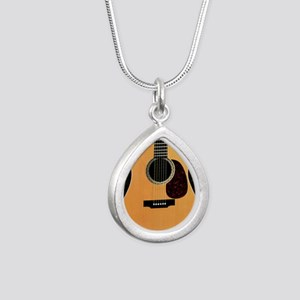 acoustic-guitar-framed p Silver Teardrop Necklace