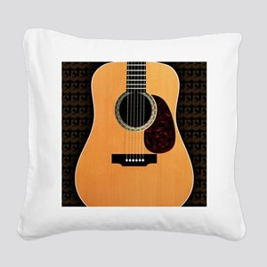 acoustic-guitar-framed panel  Square Canvas Pillow