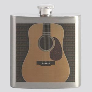 acoustic-guitar-framed panel print copy Flask