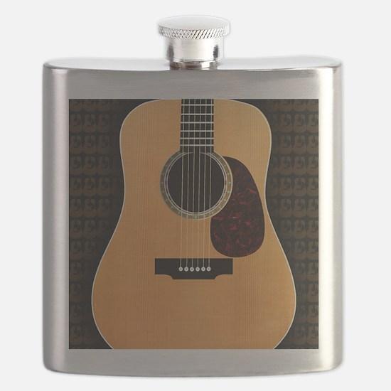 acoustic-guitar-framed panel print copy Flask