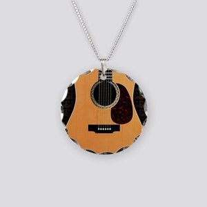 acoustic-guitar-framed panel Necklace Circle Charm