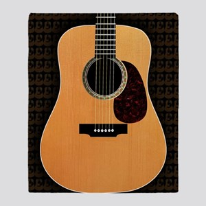 acoustic-guitar-framed panel print c Throw Blanket