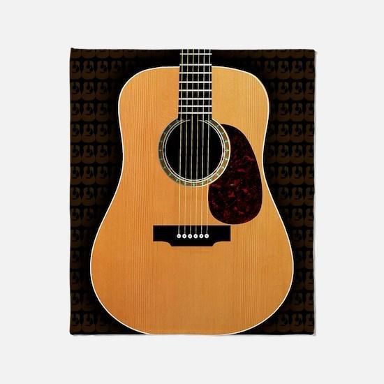 acoustic-guitar-framed panel print c Throw Blanket