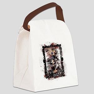 Defeat the Devil (white) Canvas Lunch Bag