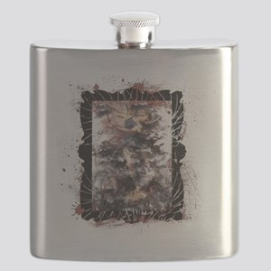 Defeat the Devil (white) Flask