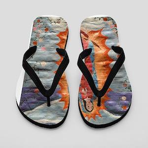 Guadalupe2Poster Flip Flops