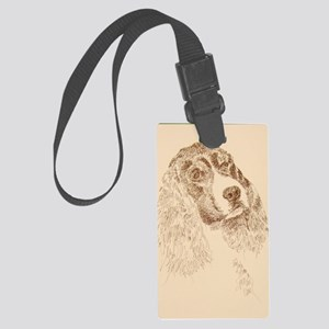 English_Springer_Spaniel_Kline Large Luggage Tag