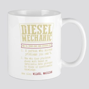Diesel Mechanic Dictionary Term T-Shirt Mugs