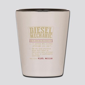 Diesel Mechanic Dictionary Term T-Shirt Shot Glass