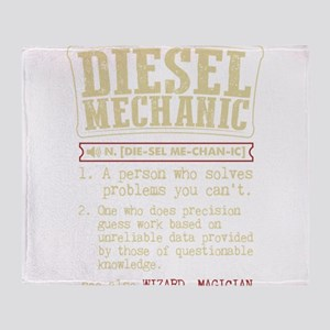 Diesel Mechanic Dictionary Term T-Sh Throw Blanket