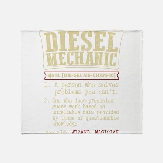Diesel Mechanic Dictionary Term T-Sh Throw Blanket