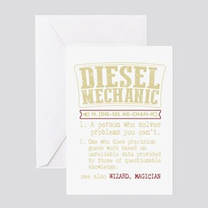 Diesel Mechanic Dictionary Term T-S Greeting Cards