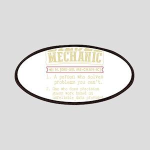 Diesel Mechanic Dictionary Term T-Shirt Patch
