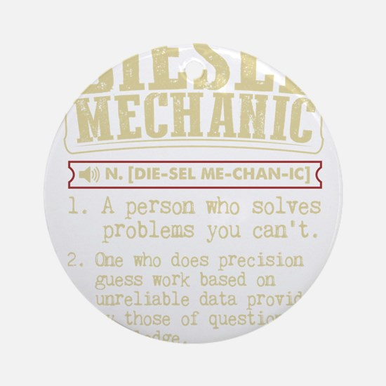 Diesel Mechanic Dictionary Term T-S Round Ornament