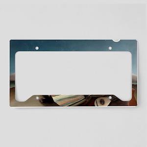 SleepingGypsyHenri_Rousseau 3 License Plate Holder