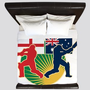 cricket sports batsman England vs Austr King Duvet