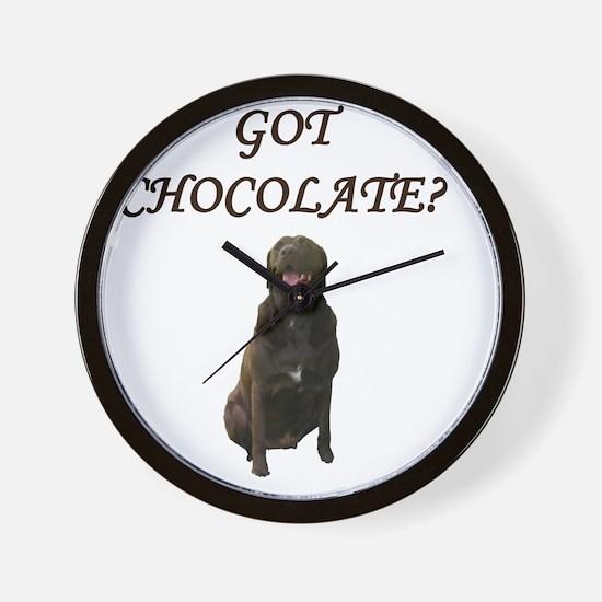 Got Chocolate Wall Clock
