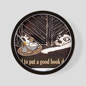 Hard to put a good book down-shirt Wall Clock