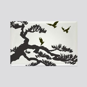 bonsi and birds Rectangle Magnet